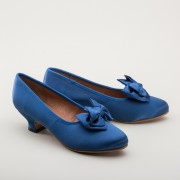 """Amelie"" Satin Pumps (Royal Blue)(1880-1920)"