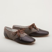 """Eliza"" Early Victorian Shoes (Brown)(1830-1860s)"