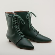 """Mansfield"" Regency Leather Boots (Green)(1785-1805)"