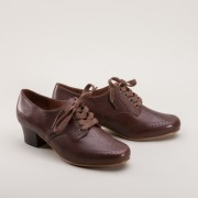 "IMPERFECT ""Claire"" 1940s Oxfords (Brown)"