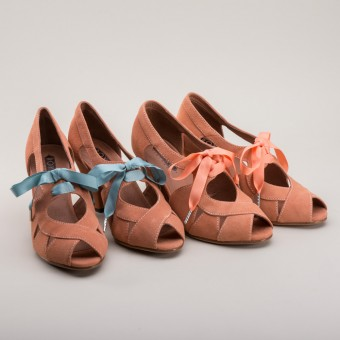 """Cora"" 1940s Sandals (Coral)"