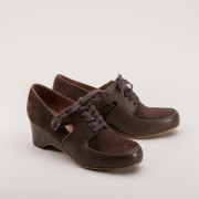 Harriet 1940s Wedge Oxford (Brown)