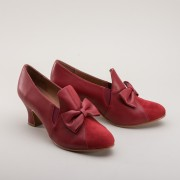 "IMPERFECT ""Maria"" Retro Bow Pumps (Red)"