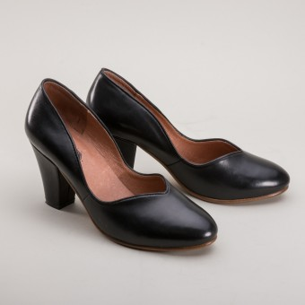"""Marilyn"" 1940s Pumps (Black)"