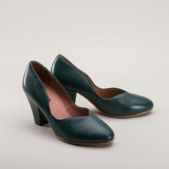 """Marilyn"" 1940s Pumps (Green)"