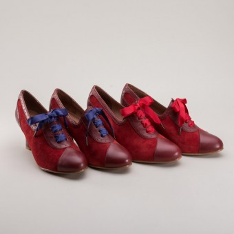"""Poppy"" Retro Oxfords (Red)"
