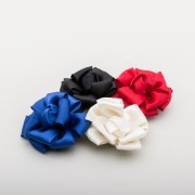 Satin Ribbon Rose Shoe Clips