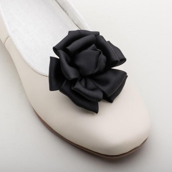 cf48c67ca4ab American Duchess   Satin Ribbon Rose Shoe Clips