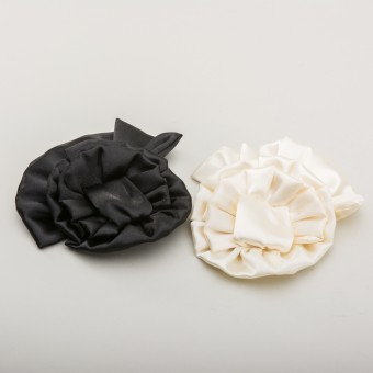 Large Satin Rosette Shoe Clips
