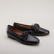 """Bertie"" Ladies' Georgian Pumps (Black) (1790 - 1820)"