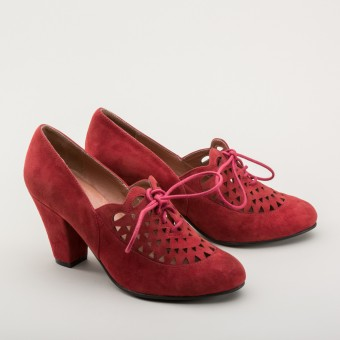 """Alice"" Retro Cutout Oxfords (Carnelian)"