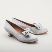 """Amelie"" Satin Pumps (Silver)(1880-1920)"