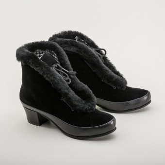 """Alpen"" Retro Winter Booties  (Black)"