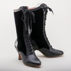Camille Edwardian Boots (Black)(1890-1930)