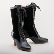 "IMPERFECT ""Camille"" Edwardian Boots (Black)(1890-1930)"