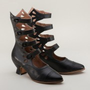 "IMPERFECT ""Colette"" Button Boots (Black)(1890-1920)"