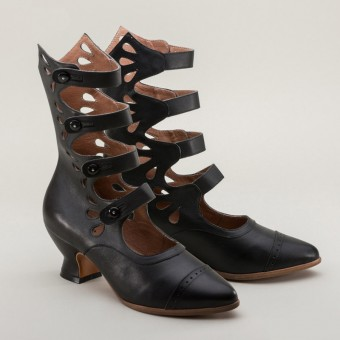 """Colette"" Button Boots (Black)(1890-1920)"