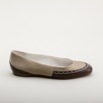 """Dashwood"" Regency Slippers (Tan/Brown)(1800-1820)"