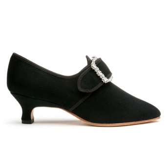 """""""Dunmore"""" 18th Century Shoes (Black Wool)(1770-1790)"""