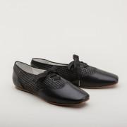 "PRE-ORDER ""Eliza"" Early Victorian Shoes (Grey/Black)(1830-1860s)"