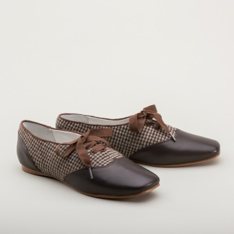"""PRE-ORDER """"Eliza"""" Early Victorian Shoes (Brown)(1830-1860s)"""