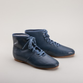 "PRE-ORDER ""Emma"" Regency Booties (Blue) (1800 - 1820)"