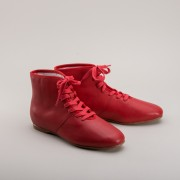 """Emma"" Regency Booties (Red) (1800 - 1820)"