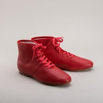 """""""Emma"""" Regency Booties (Red) (1800 - 1820)"""
