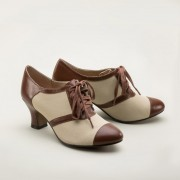 "IMPERFECT ""Evelyn"" Retro Oxfords (Tan/Brown)"