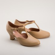"""Follies"" Theatrical T-Strap (Tan)"