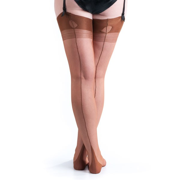 What Did Women Wear in the 1950s? Fully Fashioned Stockings $33.00 AT vintagedancer.com