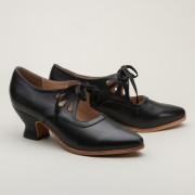 """Gibson"" Edwardian Leather Shoes (Black)(1900-1925)"