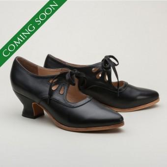 Gibson Edwardian Leather Shoes (Black)(1900-1925)
