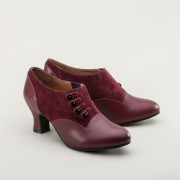"IMPERFECT ""Greta"" Retro Side-Button Shoes (Garnet)"
