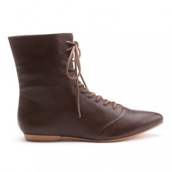 """""""Hartfield"""" Regency Leather Boots (Brown)(1790-1815)"""