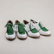 """Hepburn"" 1940s Spectator Oxfords (Green/White)"