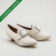 Kensington 18th Century Leather Shoes (Ivory)(1760-1790)