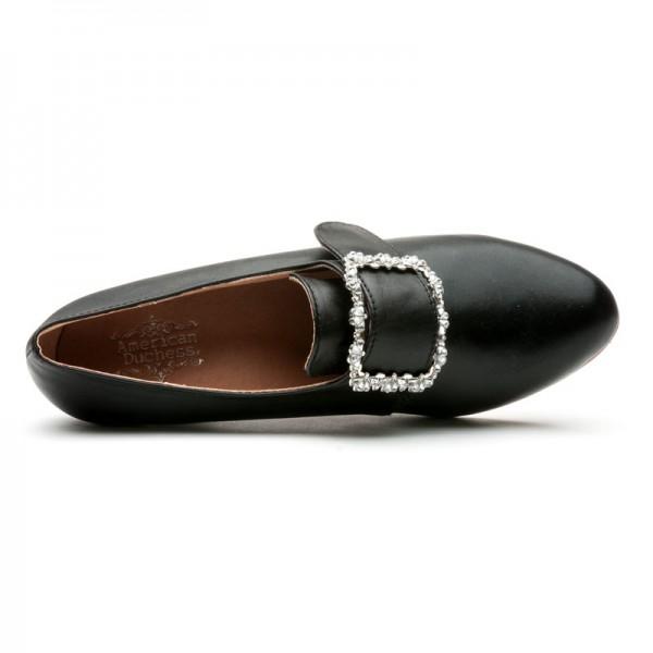 Kensington 18th Century Leather Shoes Black 1760 1790