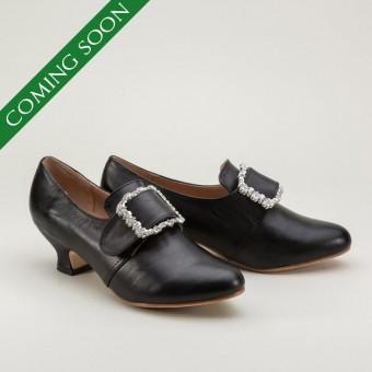 Kensington 18th Century Leather Shoes (Black)(1760-1790)