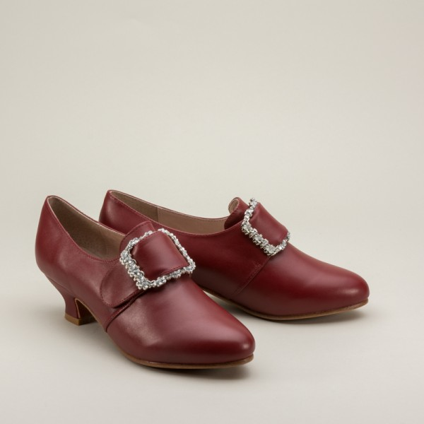 "American Duchess : ""Kensington"" 18th Century Leather Shoes ..."