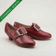 Kensington 18th Century Leather Shoes (Oxblood)(1760-1790)