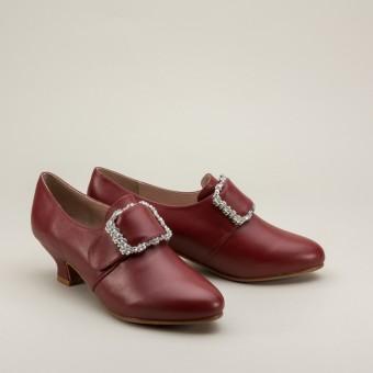 Kensington 18th Century Leather Shoes (Oxblood)(1760-1790)