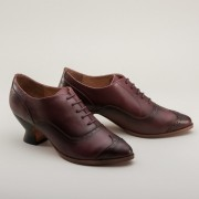 "PRE-ORDER ""Londoner"" Edwardian Oxfords (Cherry)(1900-1925)"
