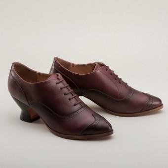 """Londoner"" Edwardian Oxfords (Cherry)(1900-1925)"