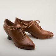 """Londoner"" Edwardian Oxfords (Tan)(1900-1925)"