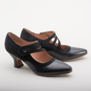 """Mae"" Edwardian Shoes (Black)(1900-1925)"