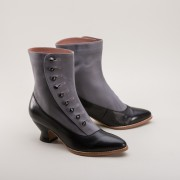 """Manhattan"" Button Boots (Grey/Black)(1890-1920)"