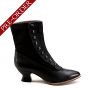 """Manhattan"" Button Boots (Black)(1890-1920)(Pre-Order)"