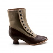 """Manhattan"" Button Boots (Brown/Tan)(1890-1920)"