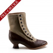 """Manhattan"" Button Boots (Brown/Tan)(1890-1920)(Pre-Order)"